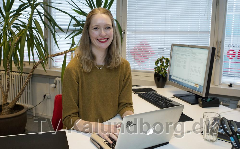 Marie Louise er nyansat hos Reklameservice til online markedsføring. Foto: Jens Nielsen