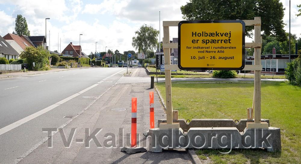 Skilte informerer om ændringen i trafikken. Foto: Jens Nielsen