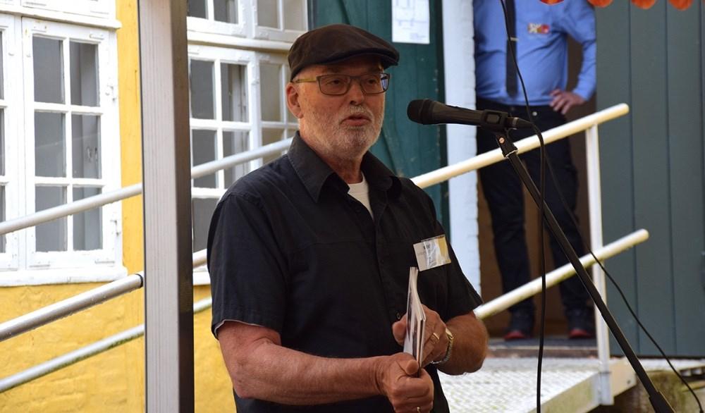 Formand for Kalundborg Kunstforening, Per Lysemose. Foto: Gitte Korsgaard.