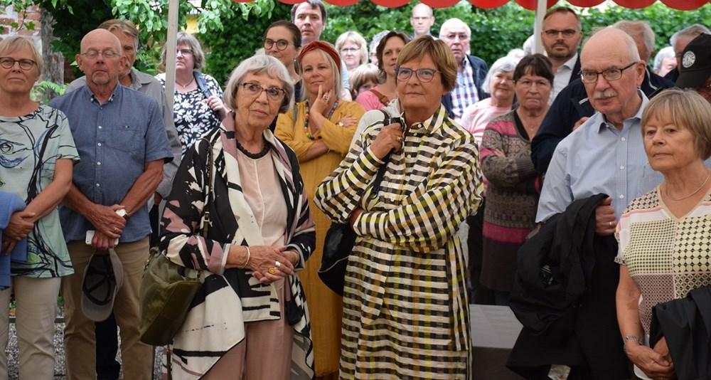 Grete Balle var blandt gæsterne til åbning af Lundbye Kunstfestival. Foto: Gitte Korsgaard.