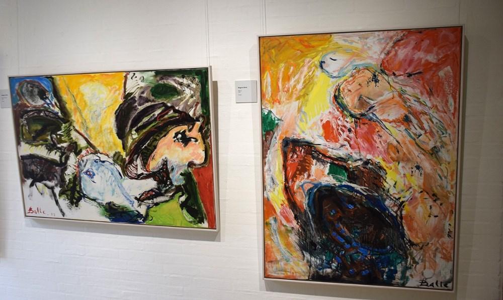 Malerier af Mogens Balle. Foto: Gitte Korsgaard.