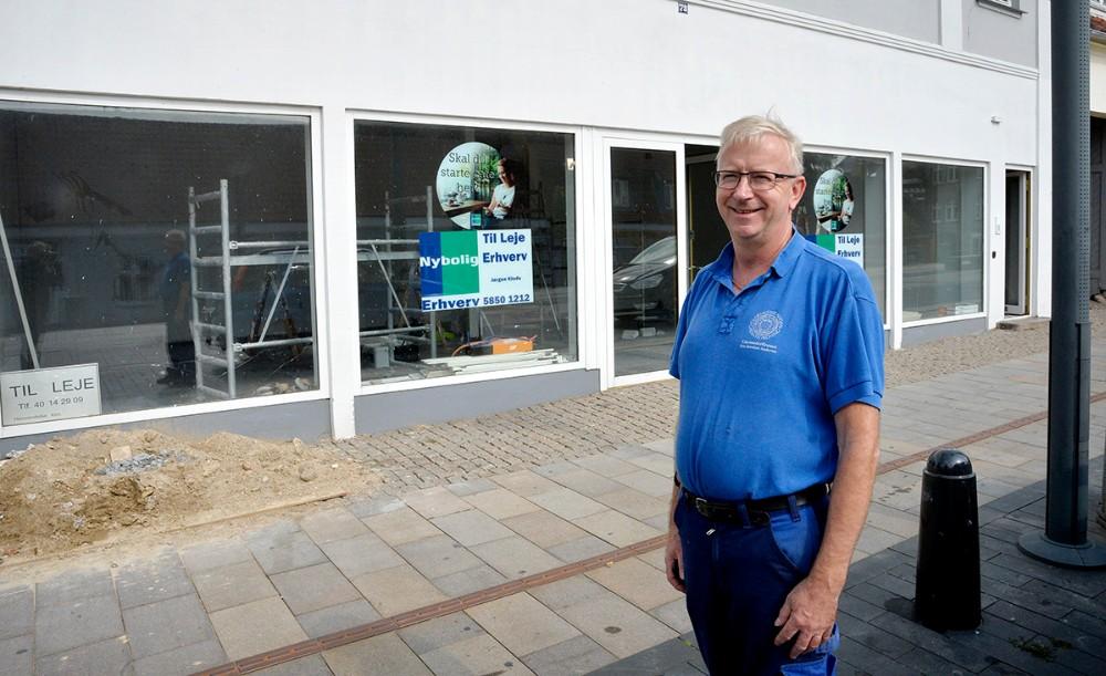 Kim Rørdam har udlejet sine lokaler på Øen i Kalundborg til en kinesisk restaurant. Foto: Jens Nielsen