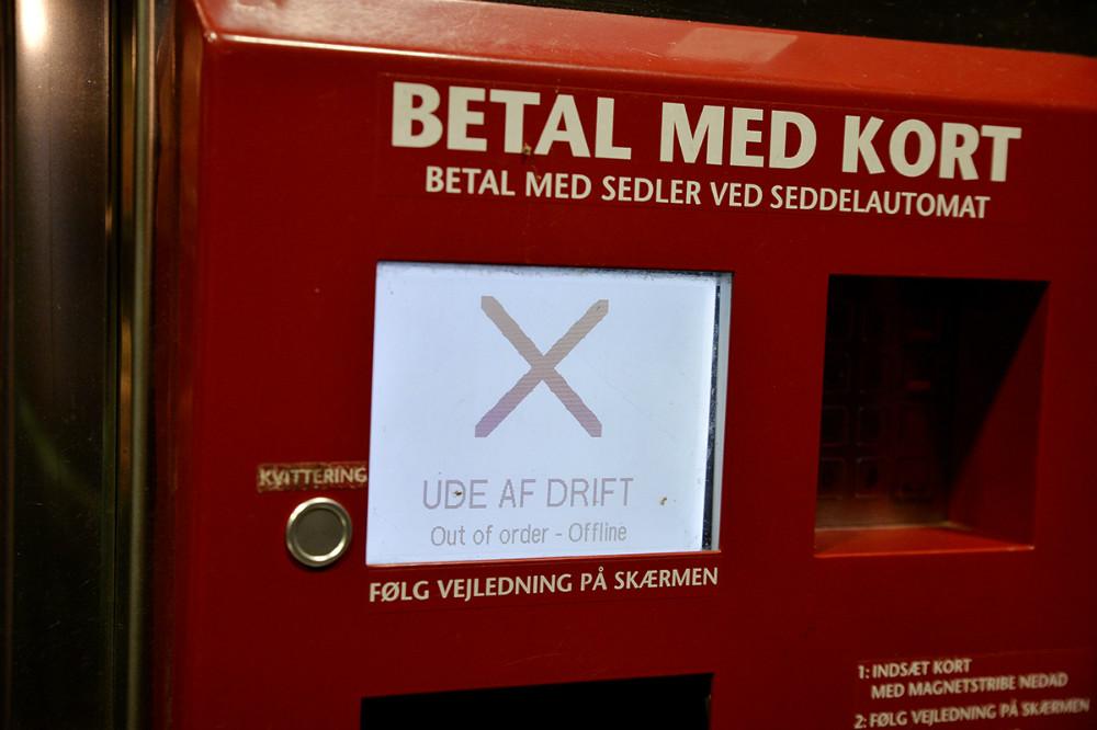OK lukkede tanken i Gørlev så ikke der var flere som fik tanket diesel med vand. Foto: Jens Nielsen