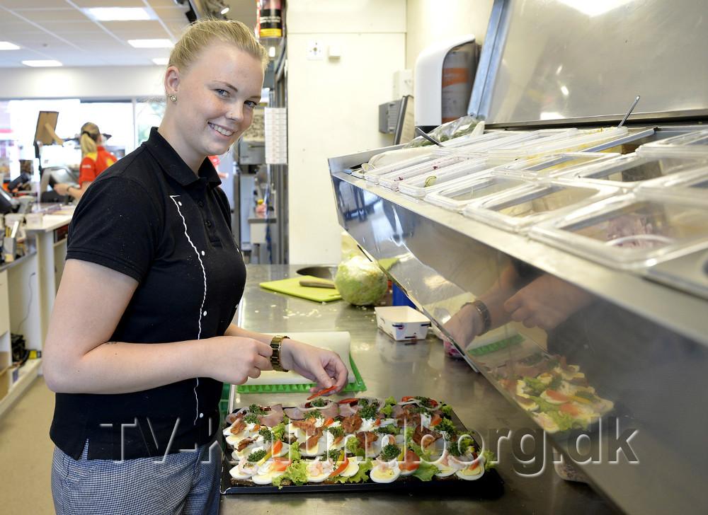 Julie Darling er ny elev hos Shell på Sct. Jørgensbjerg. Foto: Jens Nielsen