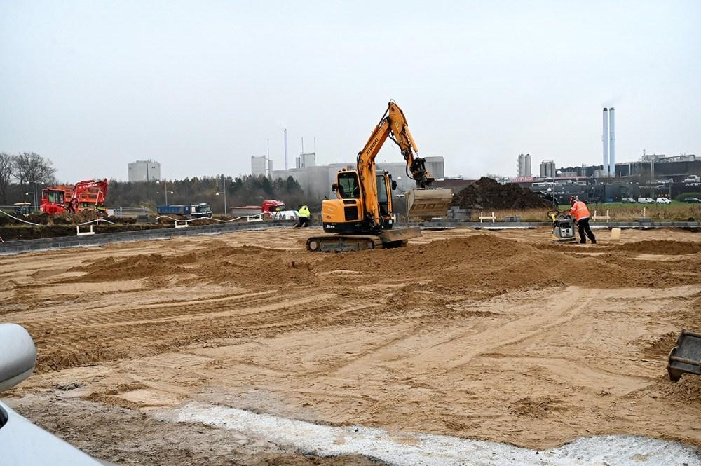 Byggeriet er allerede godt i gang. Foto: Jens Nielsen