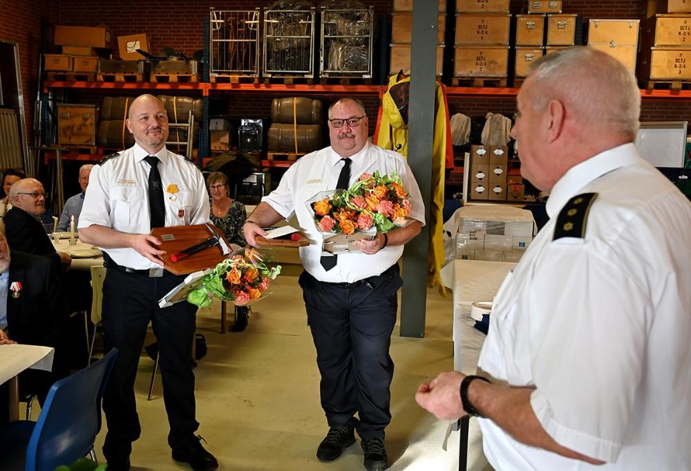 Ulrik Hansen og Lasse Rich modtog 25-års fortjenstmedalje. Foto: Jens Nielsen