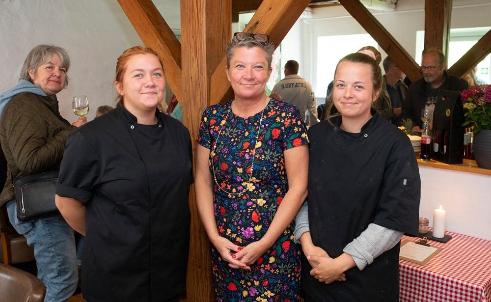 Thrysøe pigerne, fra venstre, Mathilde, Tina og Karoline. Foto: Jens Nielsen