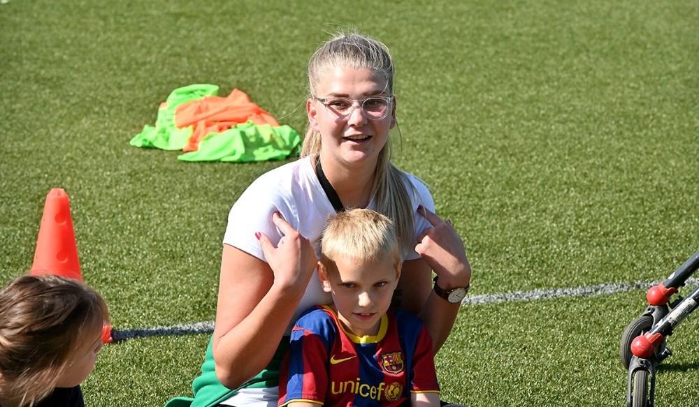 Katrine Olsen, har taget initiativ til LykkeLiga i Svebølle. Foto: Jens Nielsen