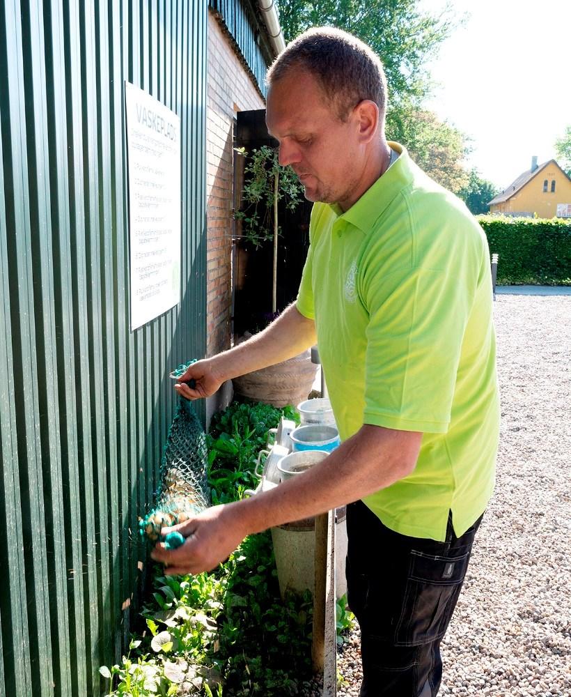 Der er også mulighed for at få sine nye kartofler vasket. Foto: Jens Nielsen