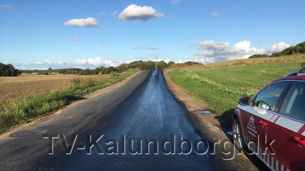 Olieforurening på en 9 km. lang strækning. Privatfoto
