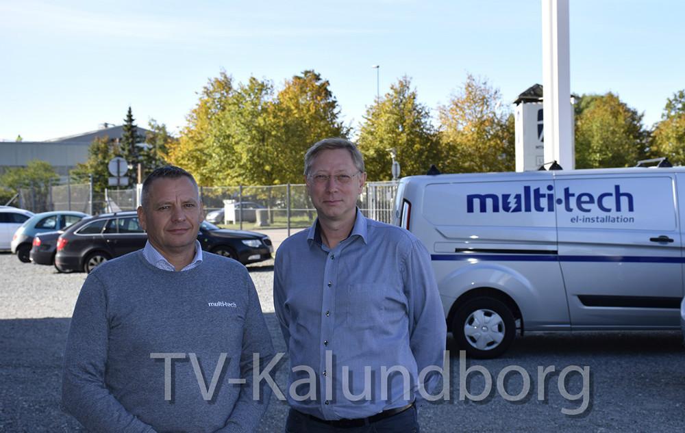 Direktør for EUC Nordvestsjælland, Steffen Lund (th) og Niels Jørgensen, medejer af Multi-Tech. Foto: Gitte Korsgaard.