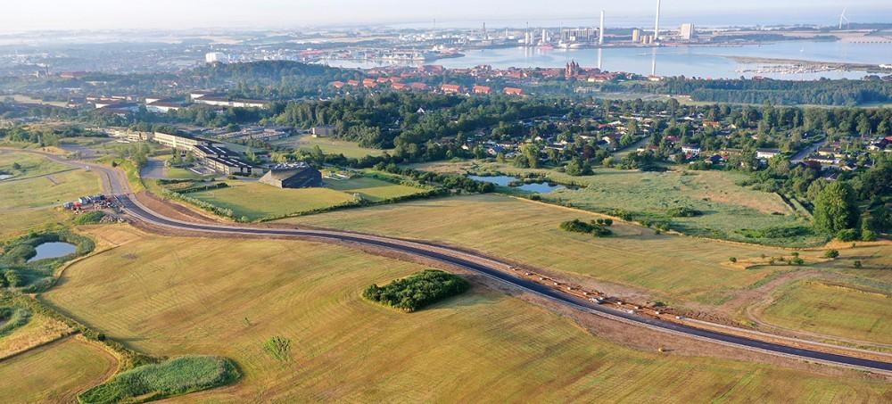 Den nye vej på Herredsåsen indvies på torsdag. Foto: Jørgen Junge