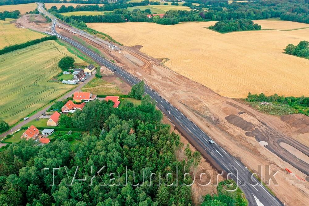 Billed fra opførelsen af 3. etape af Kalundborgmotorvejen.