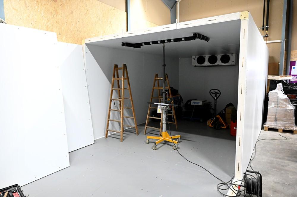 Et nyt frostrum bygges på lageret. Foto: Jens Nielsen