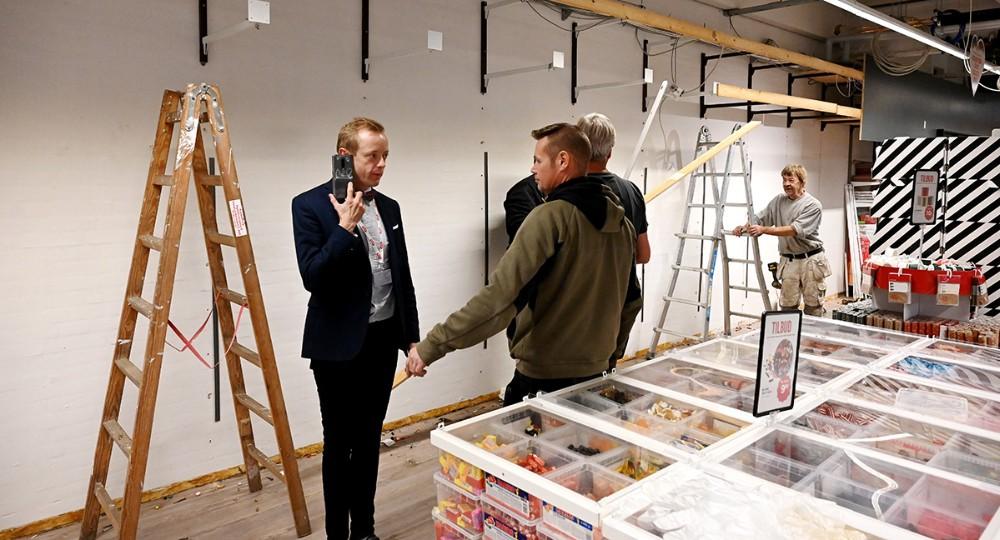 Håndværkerne er i gang hos Meny. Foto: Jens Nielsen