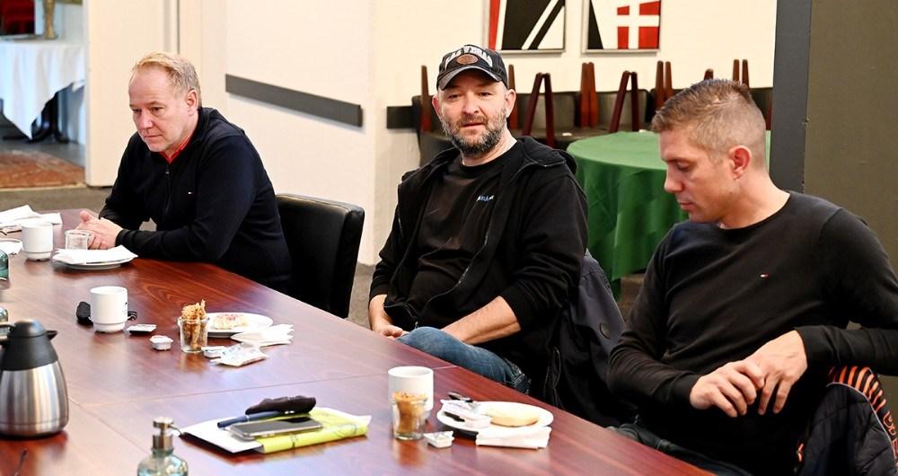 Søren Tullesen, Kalundborghallen, Brian Sønder Andersen, Kino Den Blå Engel og Johnny Elmelund, Kalundborg Rocker. Foto: Jens Nielsen