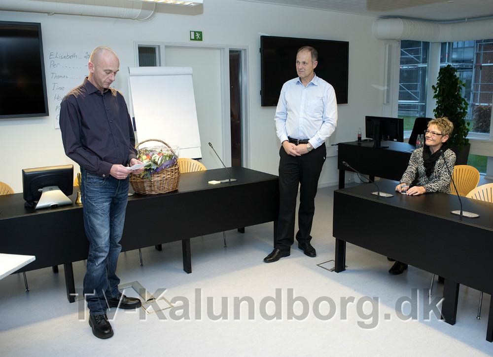 Jacob Winther Jensen holdt en bevægende takketale. Foto Jens Nielsen
