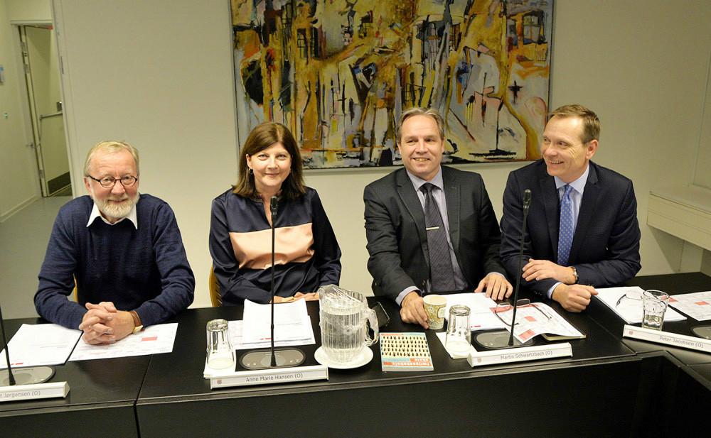 Dansk Folkeparti med Peter Jacobsen yderst til højre. Foto: Jens Nielsen
