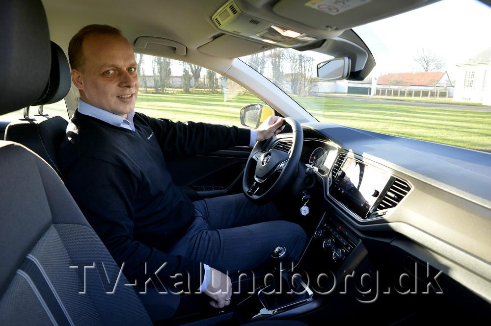 Salgschef Brian Petersen fra Volkswagen Kalundborg er klar til at vise den nye T-Roc frem hele den kommende weekend. Foto: Jens Nielsen