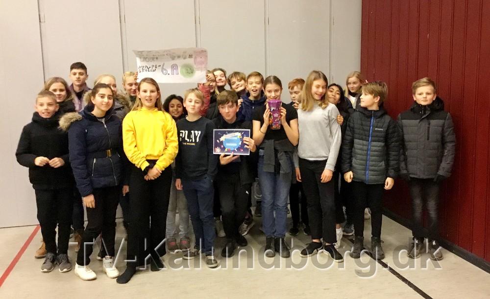 Team de kloge ugler fra Nyrupskolen blev vinder af dagens dyst. Privatfoto