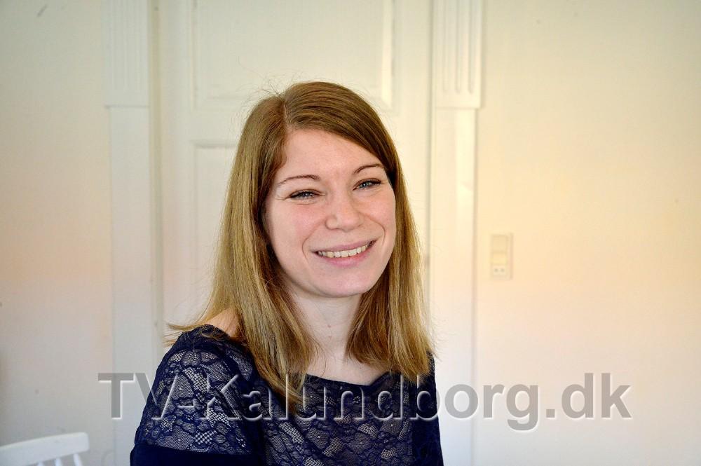 Katrine Birkemos Olsen i sit nye lokale på Dyrehøj Vingård. Foto: Jens Nielsen