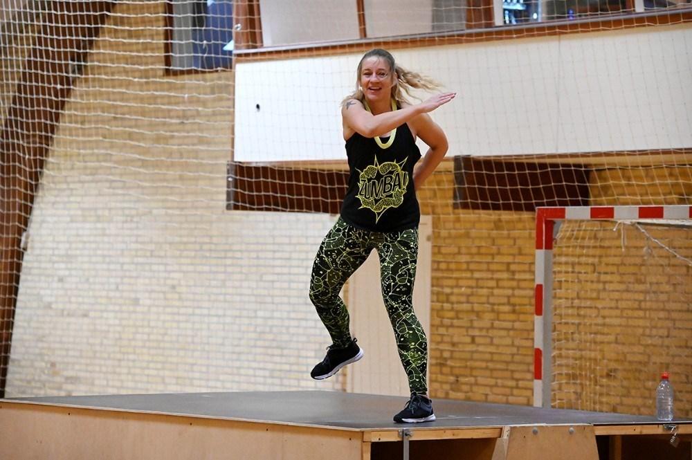 Anna Mortensen er også zumba instruktør i TGU. Foto: Jens Nielsen