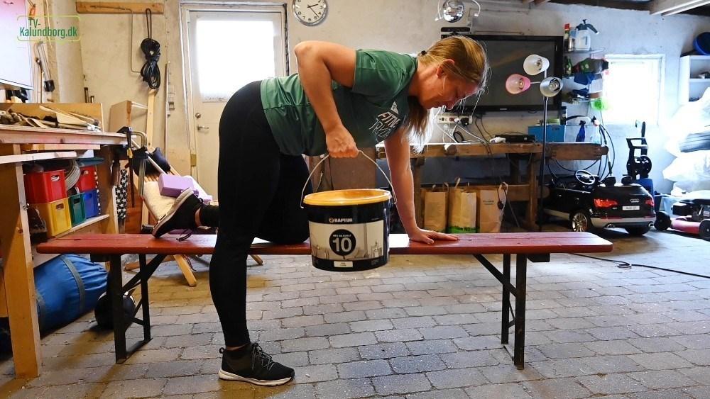 Anna Mortensen i sit værksted hvor hun har lavet flere online træningsforløb. Foto: Jens Nielsen