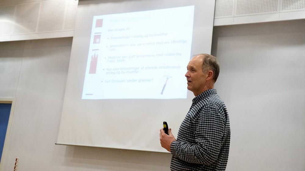 Borgmester Martin Damm informerede om ´Få det fikset´ puljen. Foto: Jens Nielsen