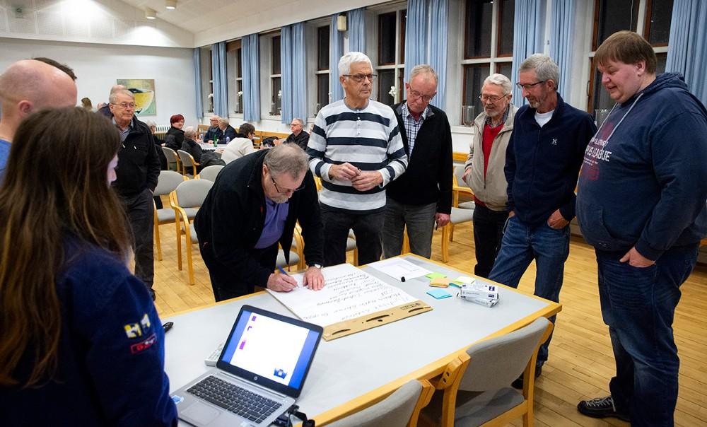 Et udvalg af de borgere som meldte sig til aktionsgruppen. Foto: Jens Nielsen