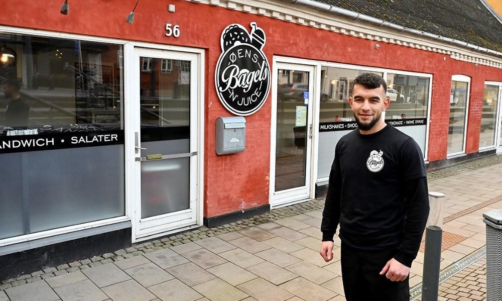 Mohammed Yousef, indehaver af Øens Bagels 'N' Juice. Foto: Jens Nielsen