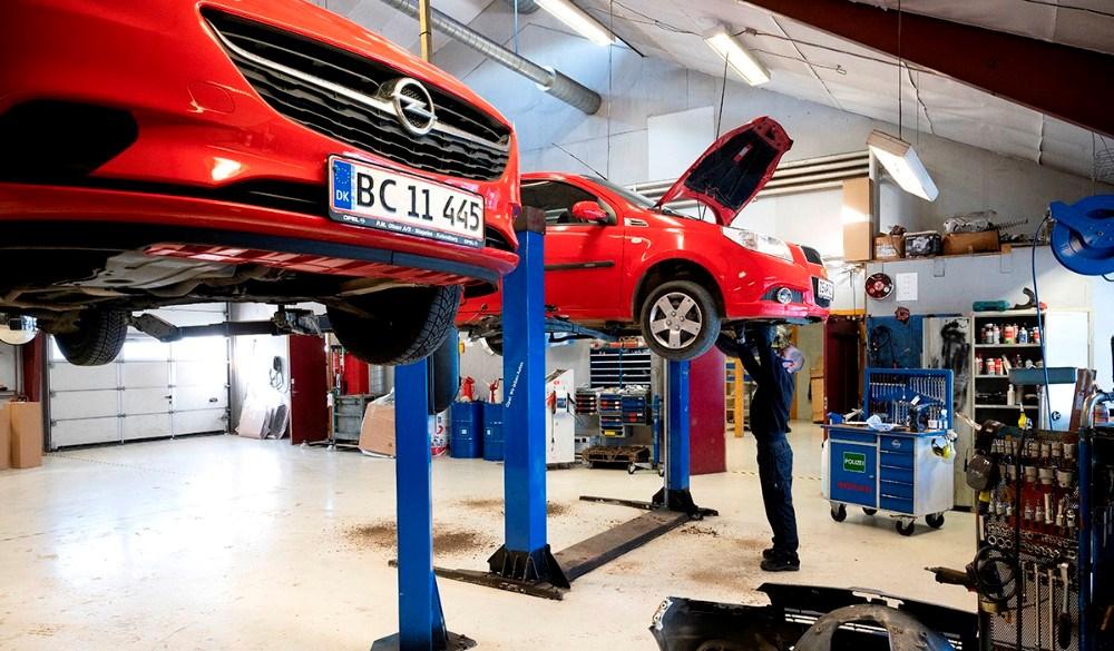 Værkstedet hos Opel Brian Madsen i Kalundborg. Foto: Jens Nielsen