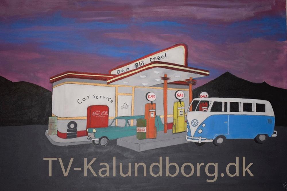 Line Sofie Skovgaard Larsens maleri, der bliver doneret til auktion. Foto: Gitte Korsgaard