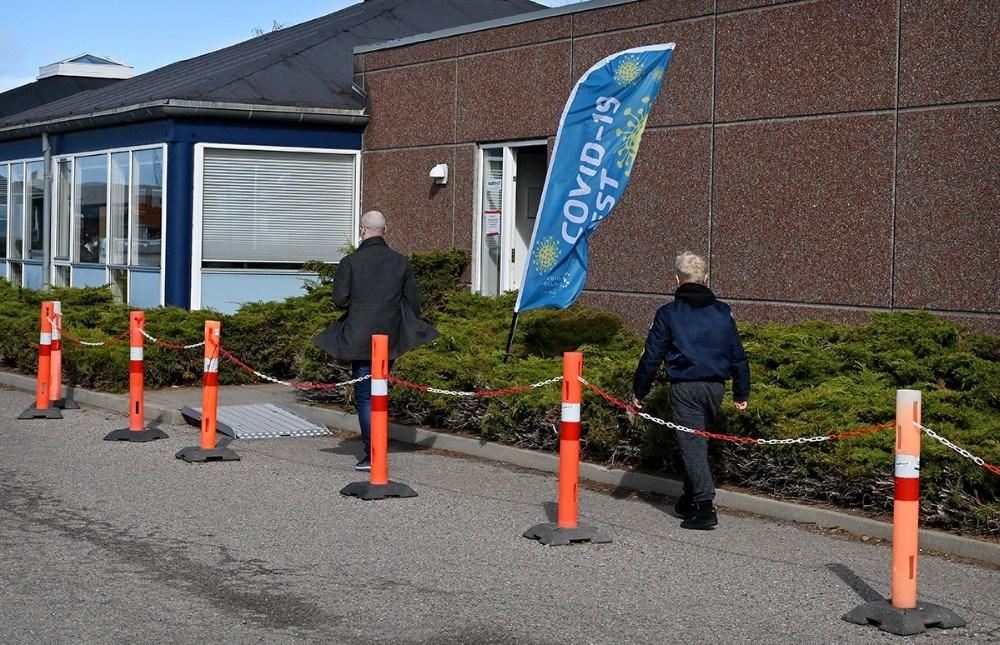 Ingen kø til PCR-test på Hareskovvej mandag formiddag. Foto: Jens Nielsen