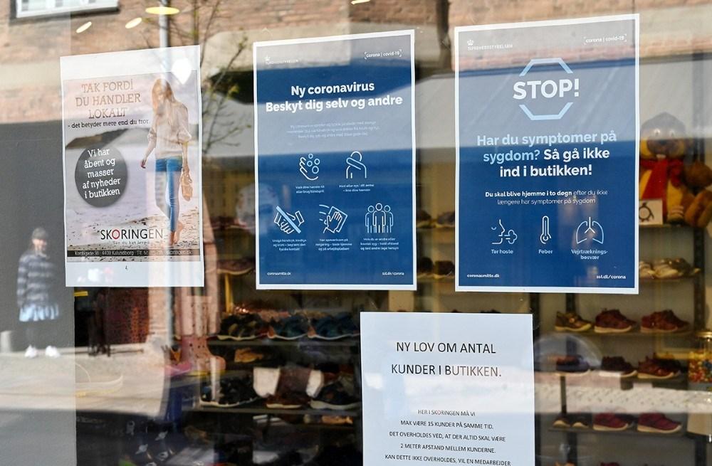 Kunderne bliver informeret med opslag på døren. Foto: Jens Nielsen