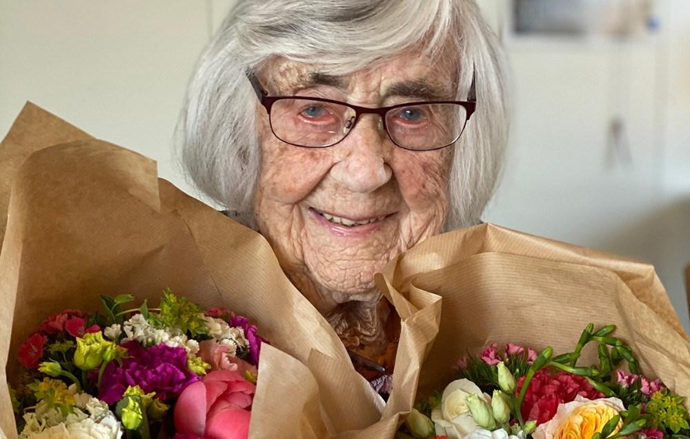 103-årige Sonja. Privatfoto