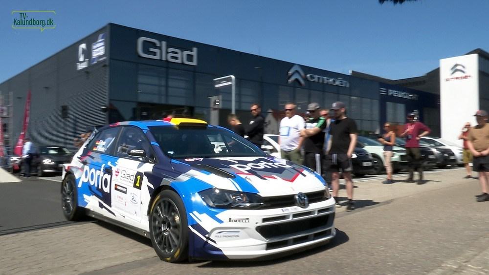 Den 3-dobbelte tyske rallymester Fabian Kreim startede som første bil i Glad Rally Kalundborg. Foto: Jens Nielsen