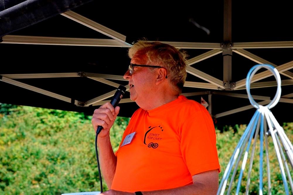 Ole Lauritzen, der er formand for Stafet For Livet i Kalundborg. Foto: Jens Nielsen