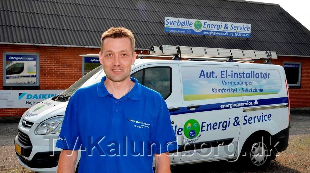 Indehaver af Svebølle Energi og Service, Ronni Pedersen. Foto: Jens Nielsen