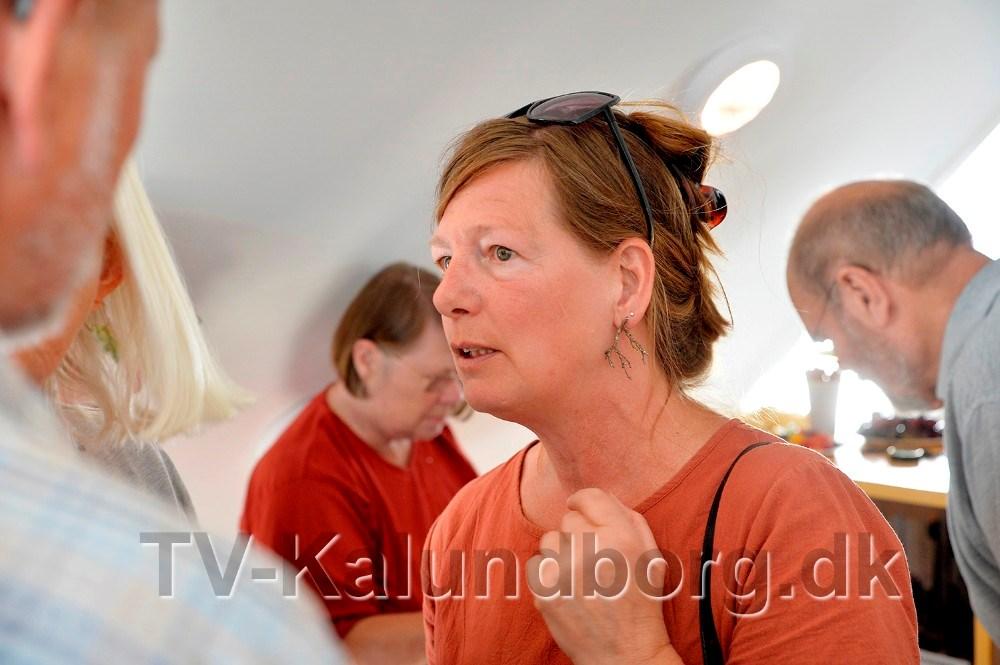 Caroline Seehusen har lavet den spændende udstilling. Foto: Jens Nielsen