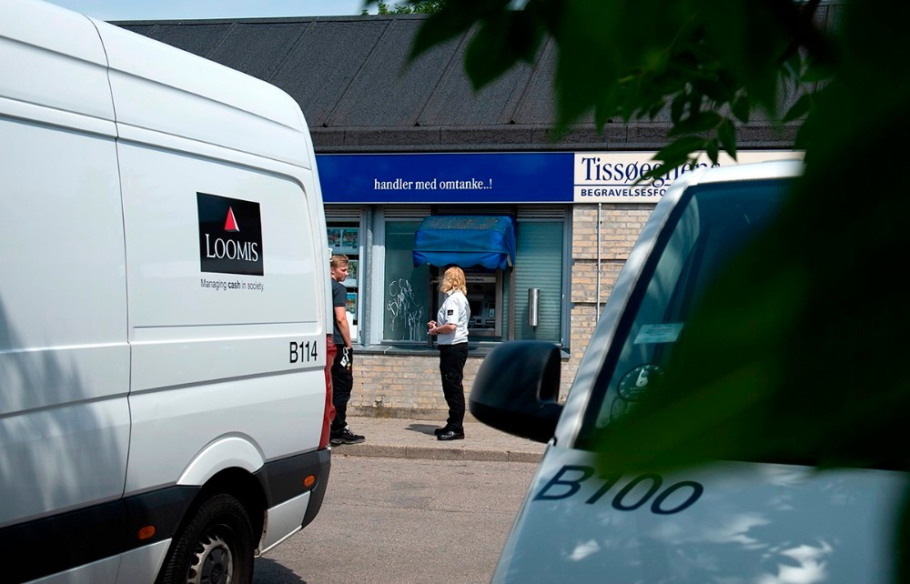 Spektakulære tyveri i Ubby mod et pengetransportfirma i maj måned sidste år. Foto: Jokum Tord Larsen