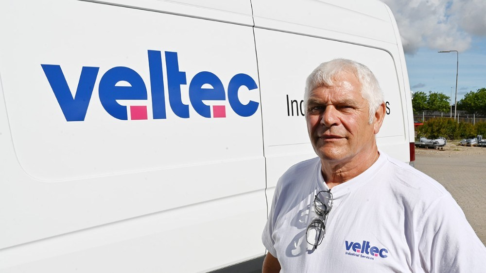 Arne Lykke Nielsen, 40-års jubilæum hos Veltec Industrial Service A/S i Kalundborg. Foto: Jens Nielsen