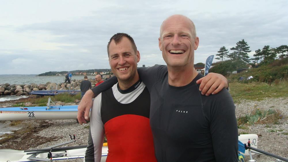 Aleksander Nygaard Hansen og Kåre Mattesen. Foto: Kalundborg Roklub