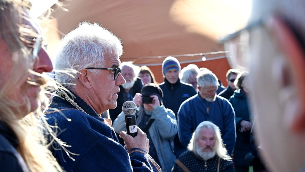 Formand for Tissø Vikingemarked Flemming Larsen. Foto: Jens NielsenFoto: Jens Nielsen