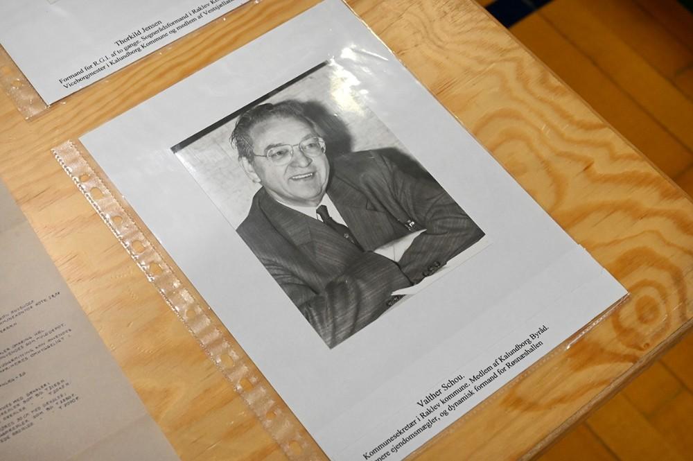 Nu afdøde ejendomsmægler Walther Schou, stod i spidsen for at skrabe penge sammen så drømmen om en sportshal i Raklev kunne realiseres. Foto: Jens Nielsen