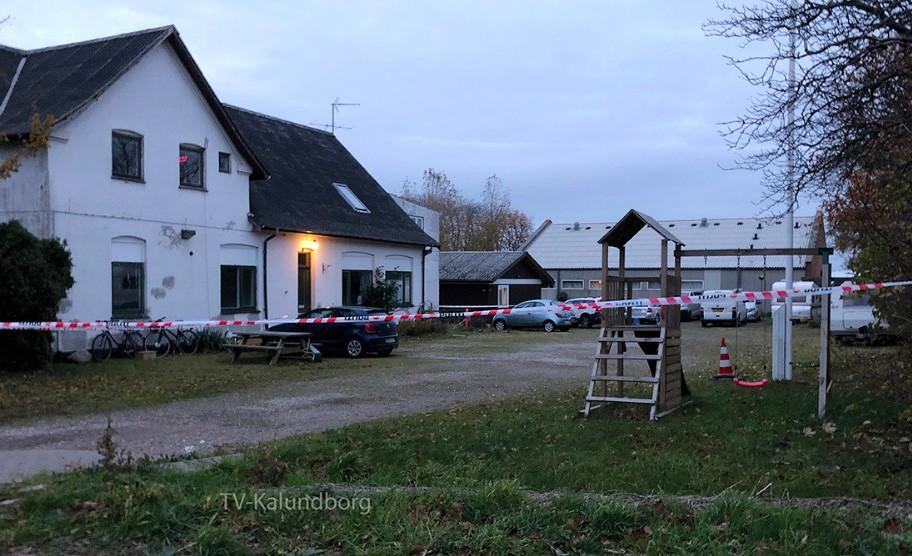 Politiet var massivt til stede i Ellede i søndag. Foto: Gitte Korsgaard