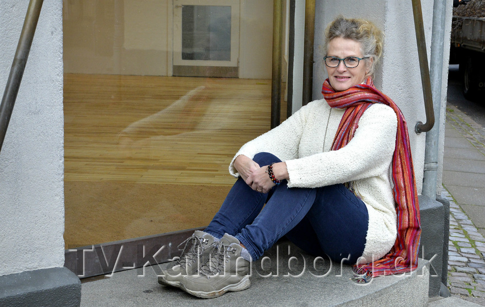 Lone Klitten sætter liv i det gamle apotek over to dage. Foto: Jens Nielsen.