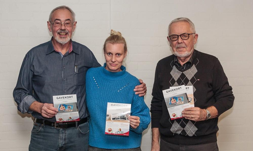 Fra venstre, John A. Olsen, Anja Kruse og Fredløv Enggaard. Privatfoto