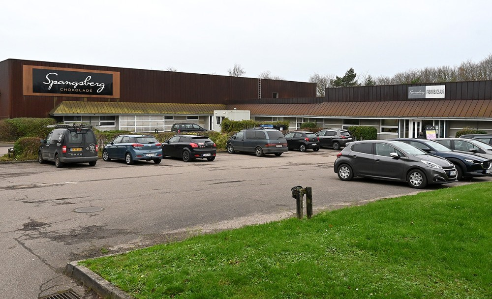 Der er travlhed i fabriksudsalget på Stejlhøj. Foto: Jens Nielsen