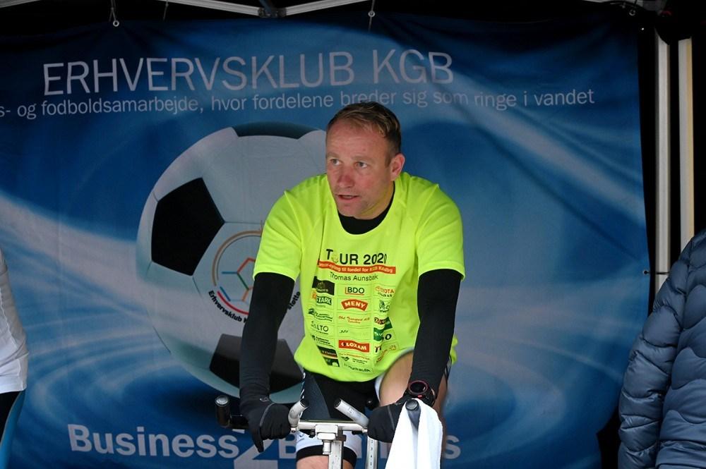 Bedst gik det for Thomas Aunsbak fra Multi-tech, der cyklede 53,6 kilometer. Foto: Jens Nielsen