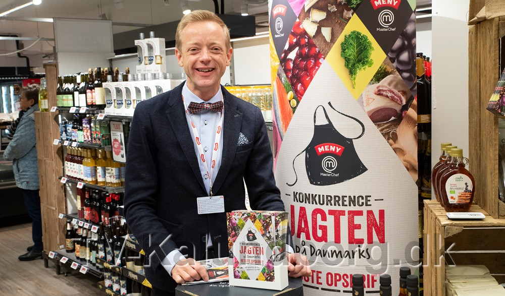Peter Egebæk fra Meny Kalundborg håber at vinderen findes i Kalundborgområdet. Foto: Jens Nielsen